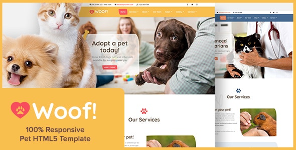 Woof! - Pet HTML5 Template - Business Corporate