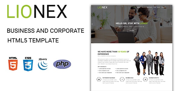 Lionex - Business And Corporate  HTML5 Template - Business Corporate