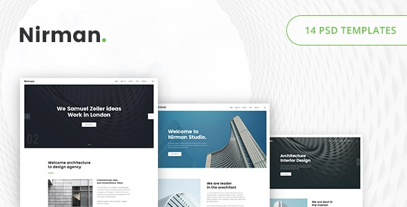 Nirman - Architecture PSD Template - Portfolio Creative