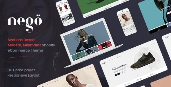 Nego - Minimalist Responsive Clothing, Kids, Bags, Cosmetics, Furniture, Fashion Shopify Theme