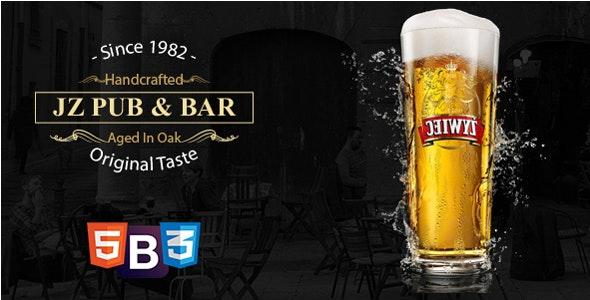 Jz Pub & Bar - HTML 5 Template - Food Retail