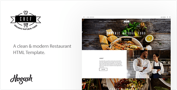 Chef | Restaurant HTML Template - Food Retail