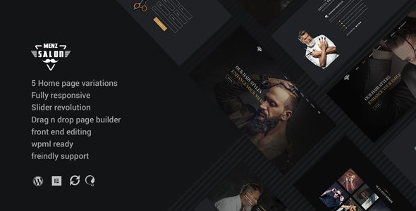 MenzSalon - Barber & Salon WordPress Theme - Health & Beauty Retail