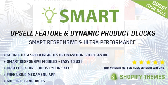 Smart - Multipurpose Shopify section - Upsell feature