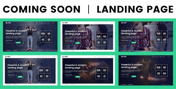 Coming Soon / Landing Page - Under Construction Specialty Pages