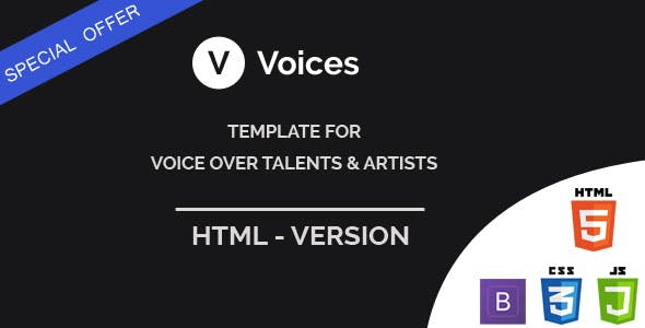 Voices - HTML Template for Voice Over Tallents