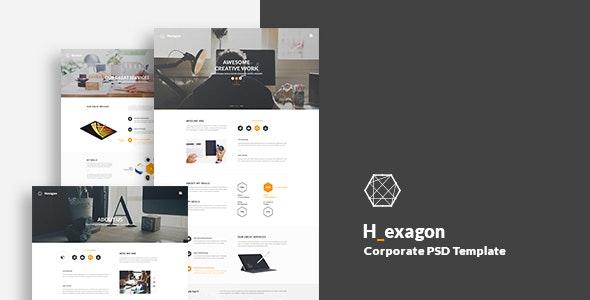 Hexagon - Corporate PSD Template - Business Corporate
