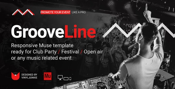 GrooveLine - Music Event / Festival / DJ Party Responsive Muse Template - Creative Muse Templates