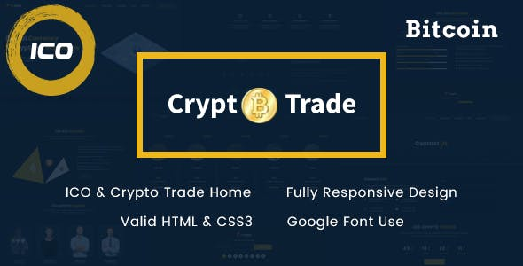 Crypto Trade - ICO, Bitcoin and Cryptocurrency HTML Template