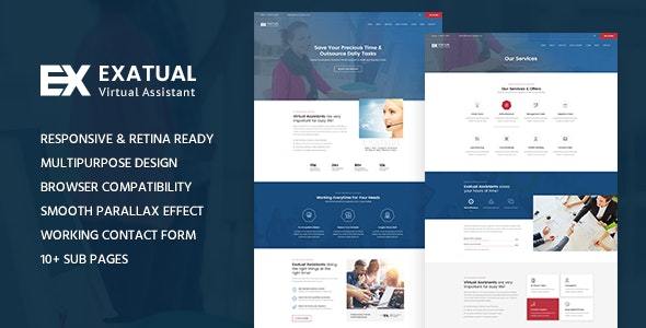 Exatual - Virtual Assistant HTML Template - Business Corporate