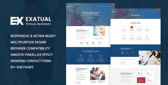 Exatual - Virtual Assistant HTML Template