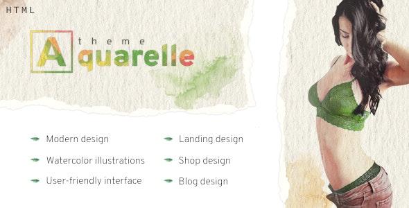 Aquarelle - healthy food market, kindergarten, portfolio, restaurant HTML template. - Retail Site Templates