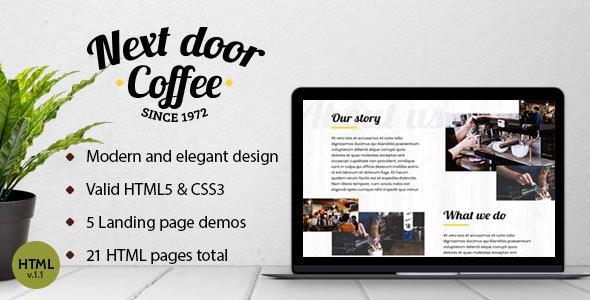 Next Door Coffee - Multipurpose  HTML Template - Food Retail