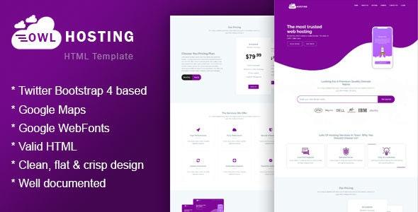 Owlhost - Responsive HTML5 Hosting Template - Hosting Technology