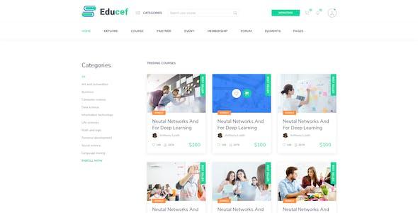 Educef – Education LMS Sketch Template
