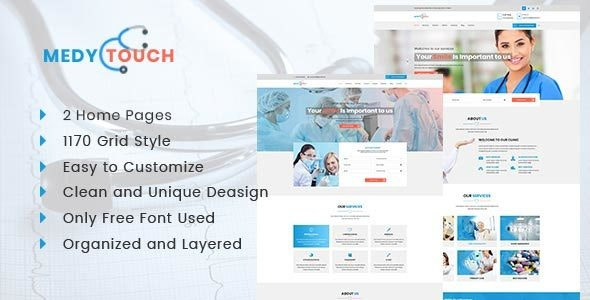 Medytouch - Helth and Medicale Html Template - Health & Beauty Retail