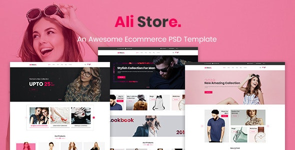 AliStore - Responsive eCommerce PSD Template - Fashion Retail