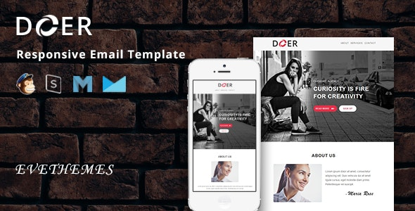 Doer - Responsive Email Template - Newsletters Email Templates