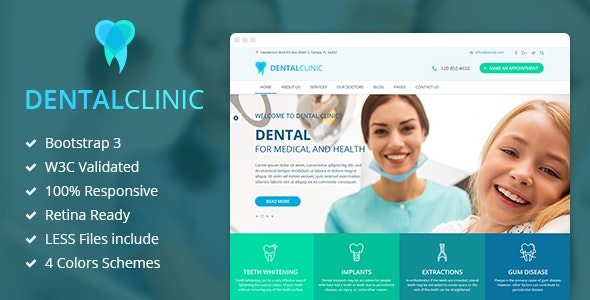 DentalClinic - Responsive Clinic HTML Template - Health & Beauty Retail