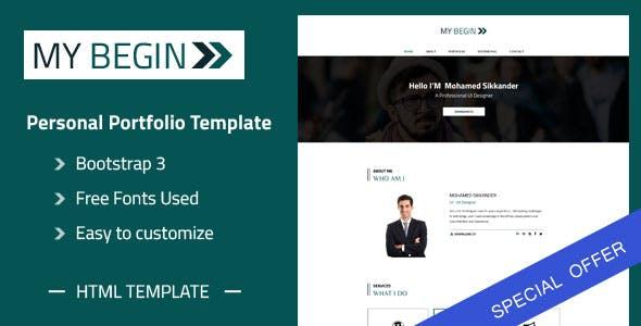 My Begin - Personal Portfolio HTML Template