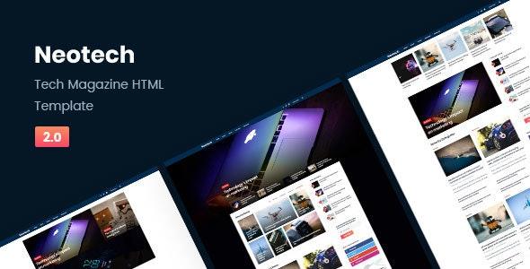 Neotech | Tech Magazine HTML Template - Technology Site Templates