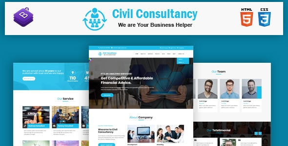 Civil Consultancy  - Business Consulting and Professional Services HTML Template - Business Corporate