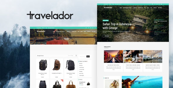 Travelador - Blog Tourism & WooCommerce Shop Theme - Blog / Magazine WordPress