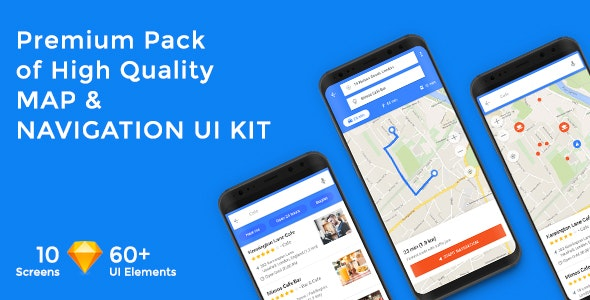 MapNavi - Maps & Navigation UI KIT for Sketch - Sketch UI Templates