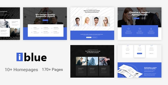 iblue - Responsive Multi-Purpose HTML5 Template - Corporate Site Templates