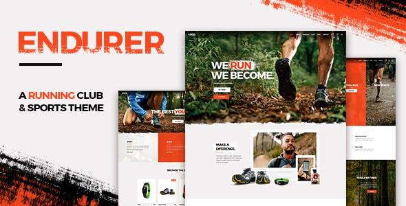 Endurer - Running Club and Sports Theme