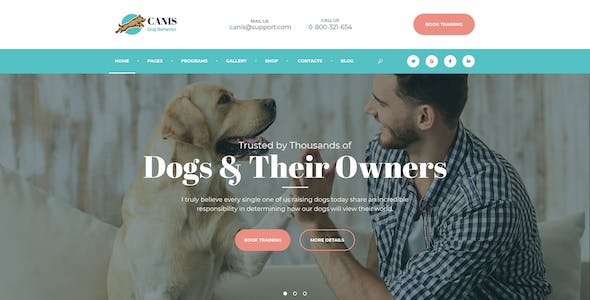 Canis - dog behavior and obedience training PSD Template