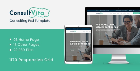 Consult Vita - Consulting PSD Template - Business Corporate