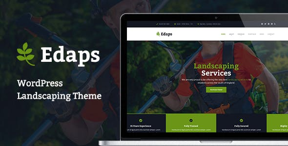 Edaps - WordPress Landscaping Theme