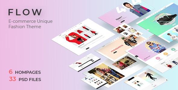 Flow - Clean, Minimal Store PSD Template - Fashion Retail