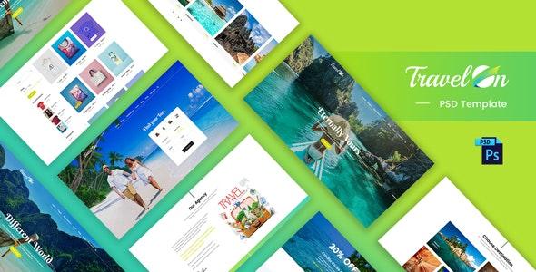 Travelon - Tour & Travel Agency PSD Template - Photoshop UI Templates