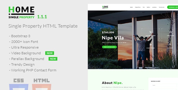 Home - Single Property HTML Template - Business Corporate