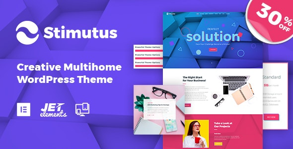 Stimutus - Creative Multihome Elementor Based WordPress Theme - Creative WordPress