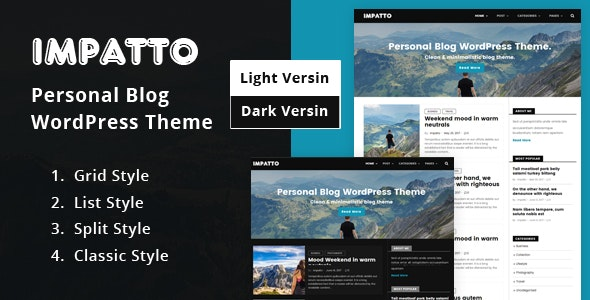 Impatto - Personal Blog WordPress Theme. - Personal Blog / Magazine