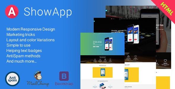 ShowApp - App Landing Page - Site Templates