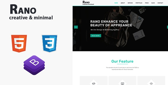 Rano | One Page Parallax HTML Template - Business Corporate