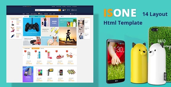 ISONE - Store RTL Multipurpose  HTML Template - Retail Site Templates