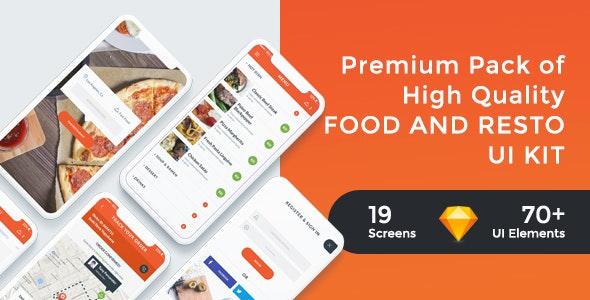 FoodRest - Food & Resto UI KIT for Sketch - Sketch UI Templates