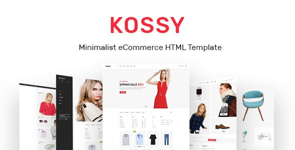 Kossy - Minimalist eCommerce HTML Template - Retail Site Templates