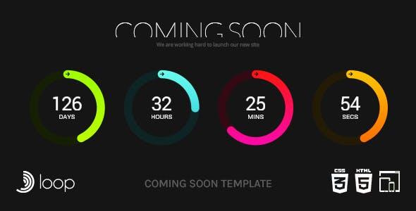 Loop - Animated Coming Soon Countdown Template