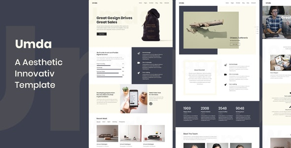 Umda - Innovative Multipurpose Creative Template - Creative Site Templates