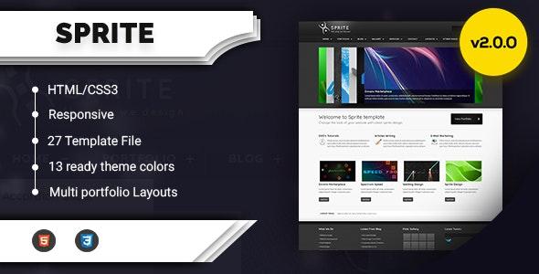 Sprite Theme Portfolio & Business HTML - Creative Site Templates