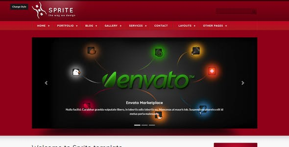Sprite Theme Portfolio & Business HTML