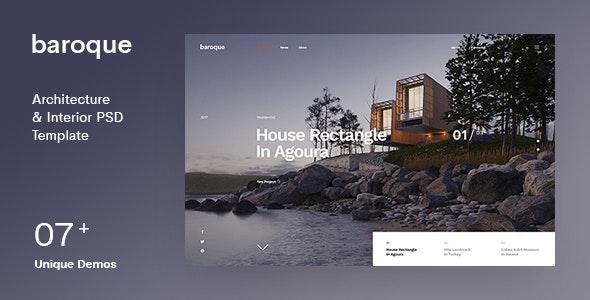 Baroque | Architecture & Interior PSD Template - Creative Photoshop