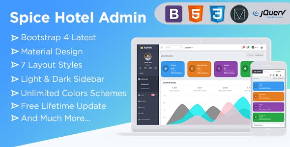 Hotel HTML Admin Website Templates from ThemeForest