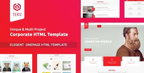 Teriz - Corporate Multipurpose Onepage HTML Template - Business Corporate